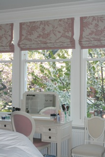 Bespoke made to measure roman blinds made in your fabric